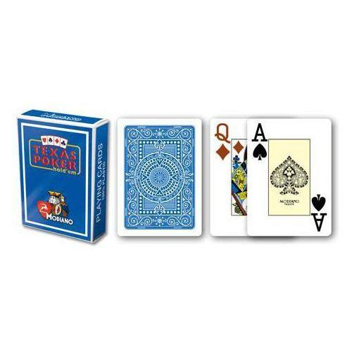 2 rogi 100% karty plastikowe - niebieskie marki Modiano