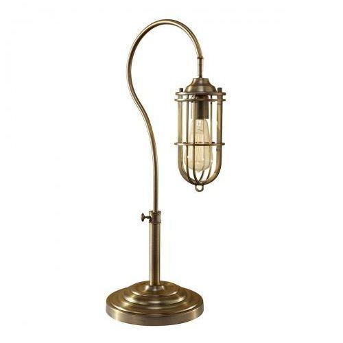 Urban renewal cage table lamp nocna fe/urbanrwl/tl1 62cm brązowy marki Elstead