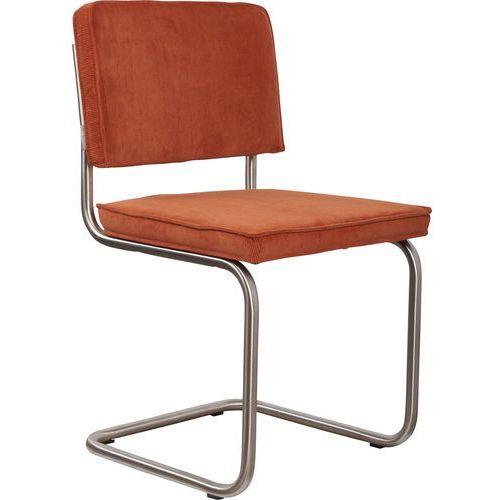 Zuiver Krzesło RIDGE BRUSHED RIB pomarańczowe 19A 1100080 (8718548014527)