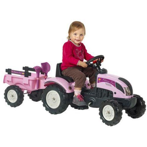 FALK Traktor księżniczki z przyczepką i akcesoriami, różowy 2/5 (3016200205630)
