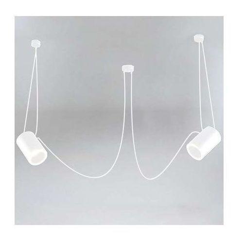 LAMPA wisząca DUBU 9026/E14/BI Shilo modernistyczna OPRAWA metalowy zwis tuby białe (1000000427530)