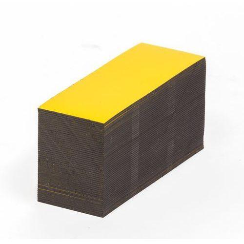 Magnetyczna tablica magazynowa, żółte, wys. x szer. 20x80 mm, opak. 100 szt. zap marki Haas