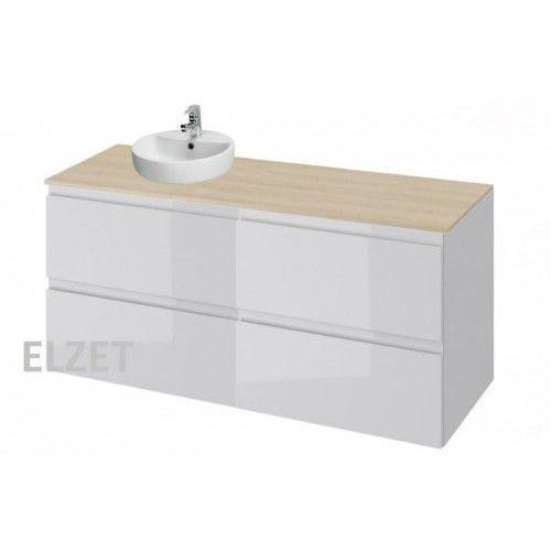 CERSANIT szafka Moduo biały połysk pod umywalkę nablatową + komoda + blat 120 S929-009+K116-022+S590-025, S929-009.K116-022.S590-025