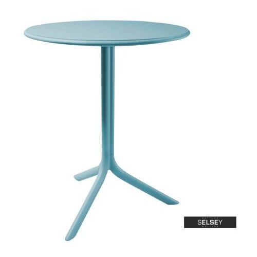 SELSEY Stół Chapena niebieski średnica 61 cm, kolor niebieski