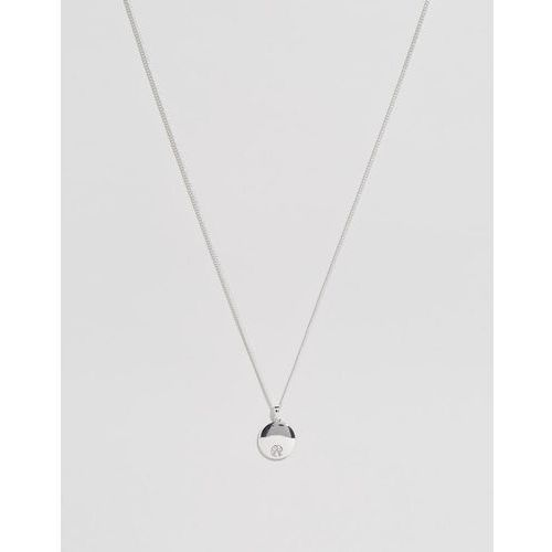 Chained & able logo medallion necklace in silver - silver