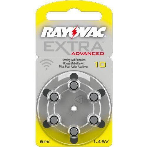 Rayovac 6 x baterie do aparatów słuchowych  extra advanced 10 mf