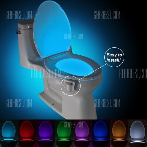 BRELONG AAA PIR LED Toilet Light Bathroom Washroom - sprawdź w wybranym sklepie
