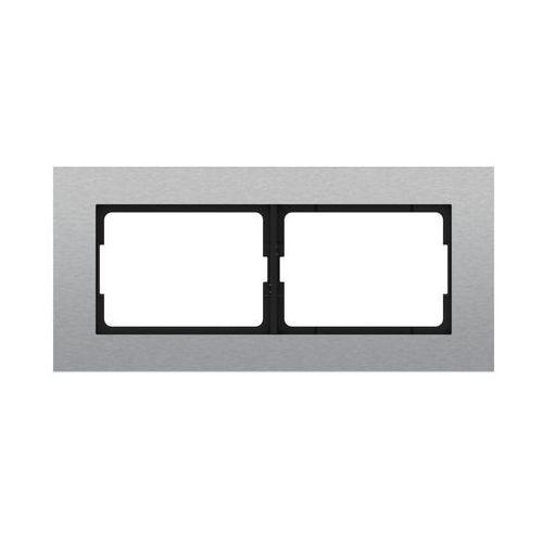 Ramka podwójna VILMA R02STEEL STALOWY DPM (4779101516791)