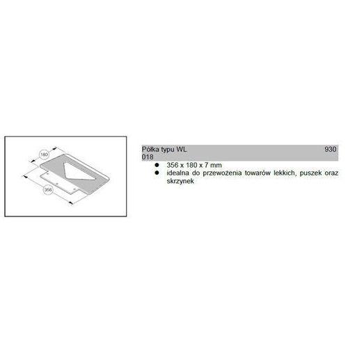 Półka typu wl 356x180x7mm do wózków modulkar sano liftkar marki Wozki aluminiowe modulkar