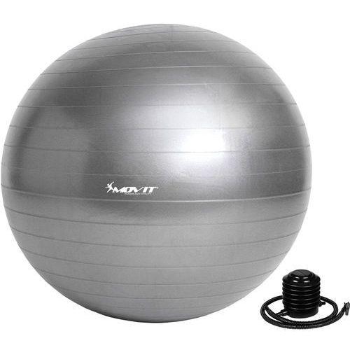 Movit ® Szara piłka fitness rehabilitacyjna 85 cm pompka - 85 cm / srebrny (20040536)