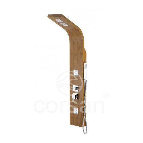Corsan bao b-022 panel prysznicowy z mieszaczem, drewno bambusowe * wysyłka gratis