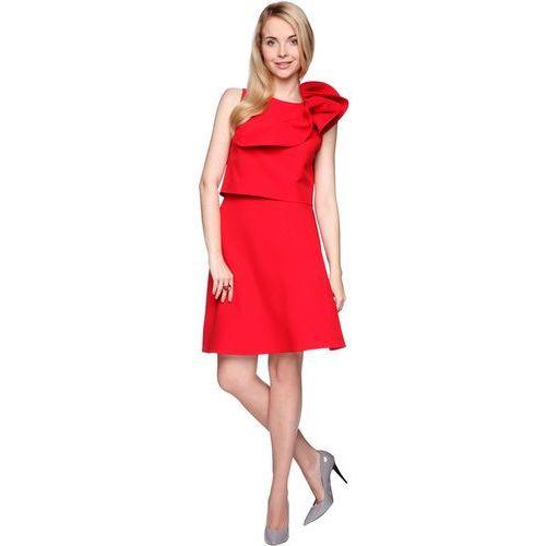 Komplet czerwony top i spódnica marki Rina cossack