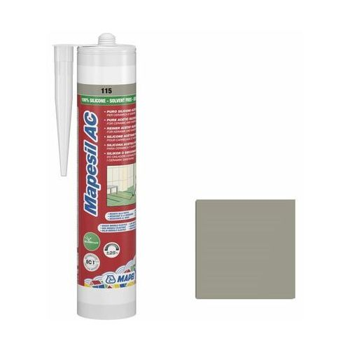 Silikon sanitarny 115 Szary 310 ml MAPEI (8022452241321)