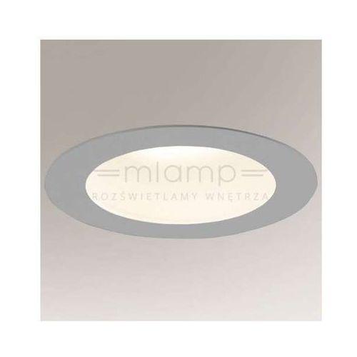Wpuszczana LAMPA sufitowa MACHIDA 8017/GX53/SZ Shilo podtynkowa OPRAWA do łazienki OCZKO okrągłe IP44 szare, kolor Szary