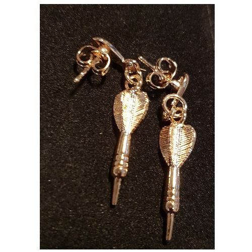 Biżuteria/kolczyki lotka dart złota marki Bil-cup