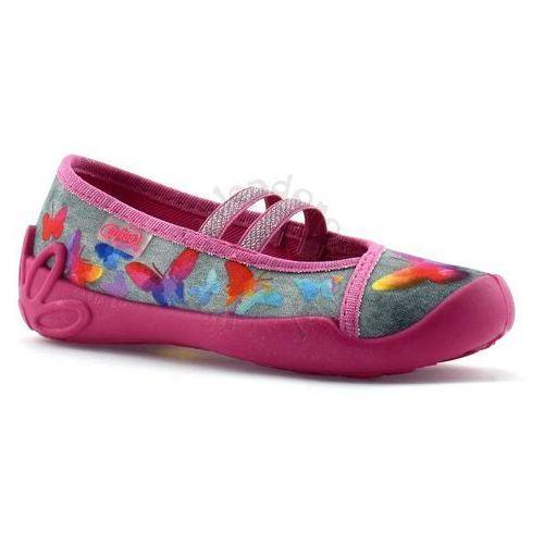 Kapcie dziecięce 116x219 blanca - różowy   kolorowy marki Befado