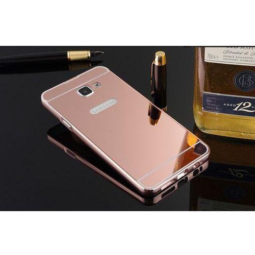 Mirror Bumper Metal Case Różowy | Etui dla Samsung Galaxy A7 (2016), kolor Różowy