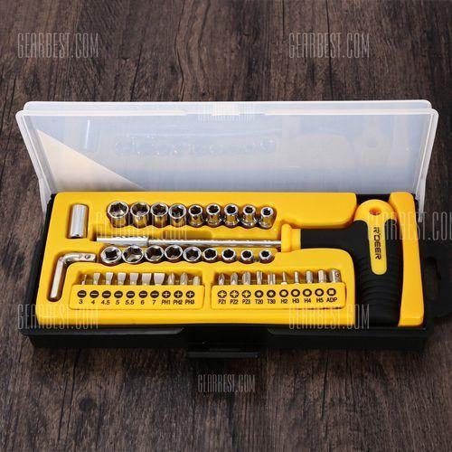 Robust deer rt - 1643 43pcs t style multifunction ratchet screwdriver socket set od producenta Gearbest
