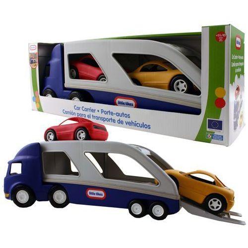 Little tikes Lt ciężarówka laweta z samochodami -niebieska