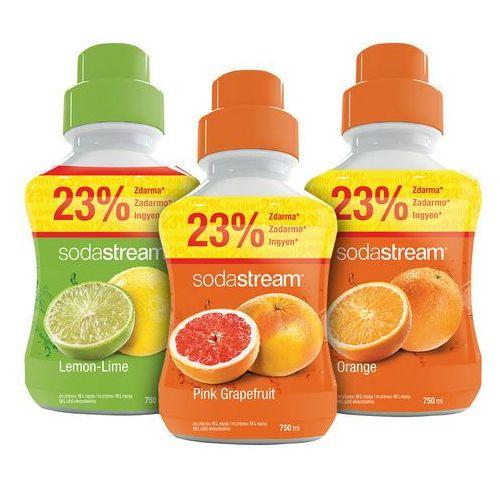 Sodastream  syropy pomarańczowy, cytrynowy, grejpfrutowy 750 ml (8590669179541)