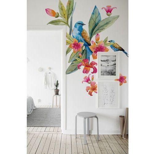 Naklejki na ścianę kwiaty i ptaki marki Coloray.pl