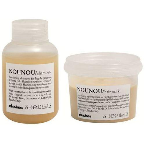 Davines NOUNOU | Mini zestaw do włosów zniszczonych: szampon+maska 2x75ml (9753197531804)