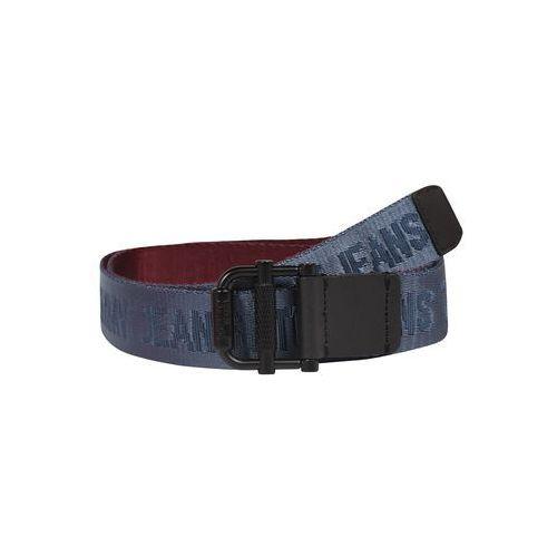 Tommy Jeans Pasek 'TJM ROLLER REV WEBBING BELT 3.5' ciemny niebieski / bordowy (8719859094727)