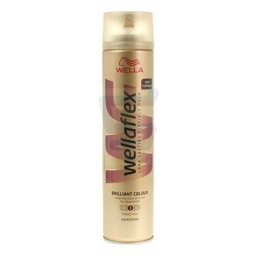 Lakier do włosów Wella Wellaflex Brilliant Colour Mocno utrwalający 250 ml