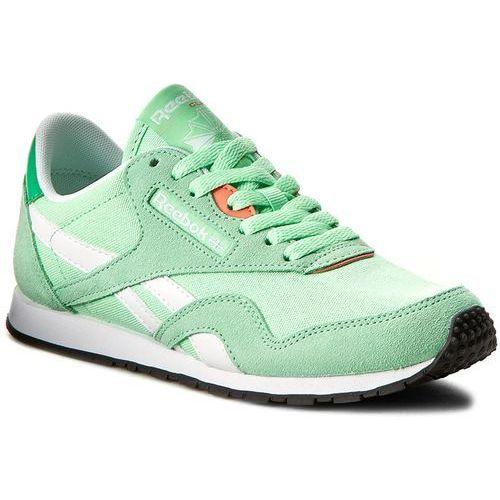 Buty Reebok - Cl Nylon Slim Hv BD1781 Mint/Bottle Green/Wht/Pnk, kolor zielony
