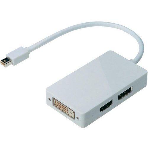Przejściówka, adapter displayport, hdmi, dvi , [1x złącze mini-displayport - 1x złącze displayport, hdmi, dvi 25-pin] wyprodukowany przez Digitus