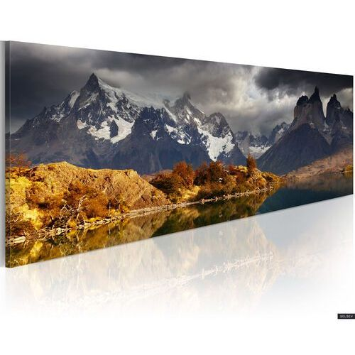 SELSEY Obraz - Mountain landscape before a storm 120x40 cm (5902622534084)