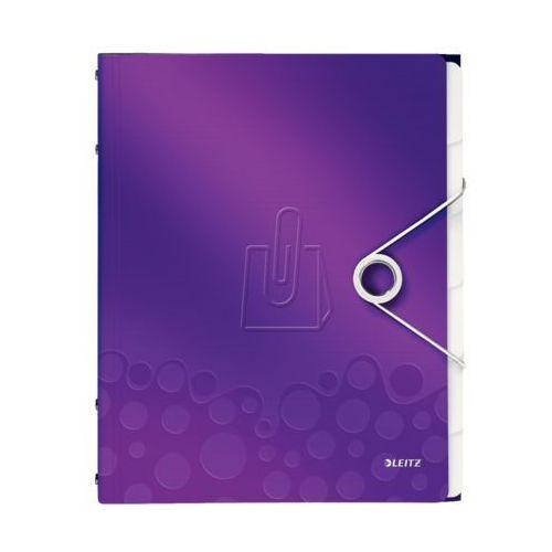 Esselte Teczka segregująca 6 przekładek pp leitz wow fioletowa (4002432106240)