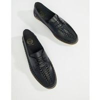 Kg by kurt geiger woven lace up shoes in navy leather - blue marki Kg kurt geiger