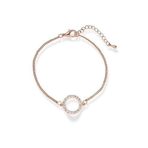 Bransoletka z kryształami Swarovskiego® bonprix dymny jasnoróżowy pozłacany, kolor różowy