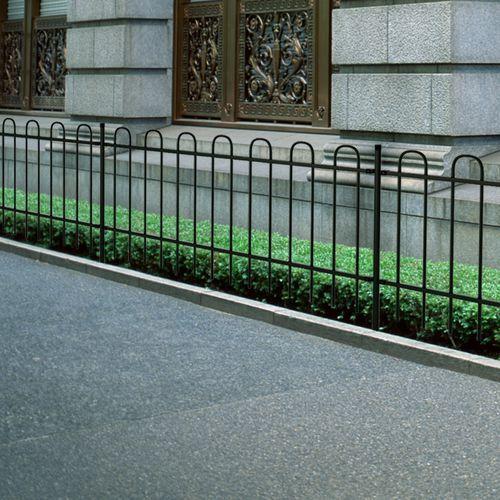 ogrodzenie ozdobne palisadowe ze stali, czarne, 100 cm od producenta Vidaxl