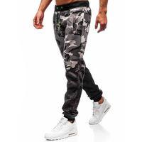 J.style Spodnie męskie dresowe joggery szare denley 55031