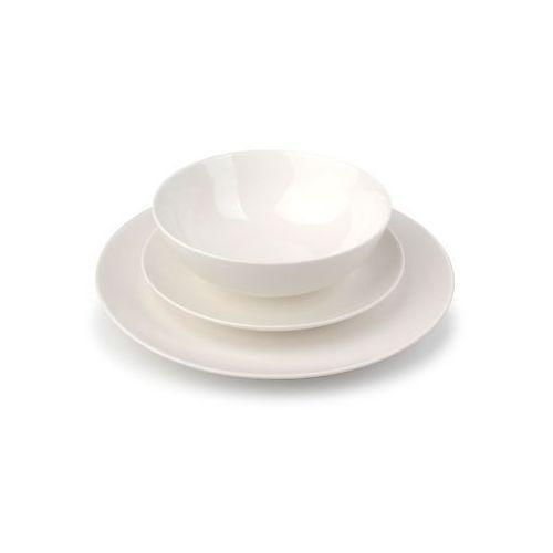 Mondex 18 elem. serwis obiadowy arielle porcelanowy biały