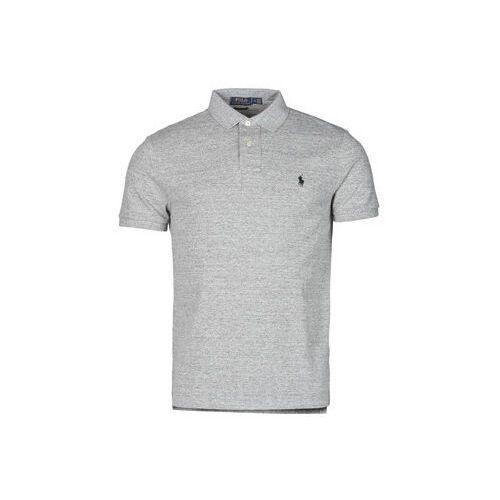 Koszulki polo z krótkim rękawem Polo Ralph Lauren POLO AJUSTE DROIT EN COTON BASIC MESH LOGO PONY PLAYER, kolor szary