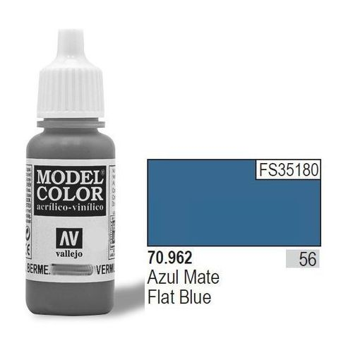 Vallejo Farba nr 56 flat blue matt 17 ml