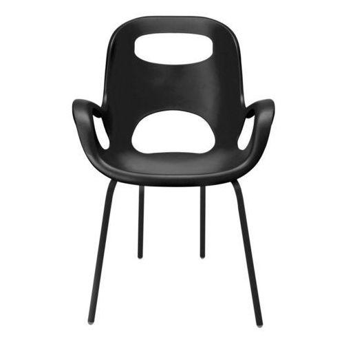 Umbra - 2 krzesła Oh Chair - czarne - czarny, kolor czarny