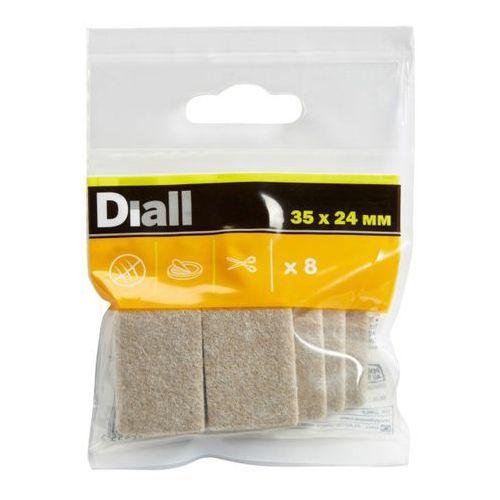 Diall Podkładki samoprzylepne filcowe 35 x 24 mm beżowe 8 szt. (3663602992455)