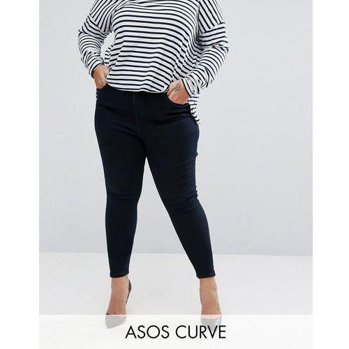 high waist ridley skinny jean in petunia dark wash blue - blue od producenta Asos curve