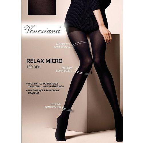 Rajstopy Veneziana Relax Micro 100 den 3-M, czarny/nero, Veneziana, kolor czarny