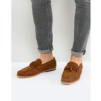River island suede loafer in tan - tan