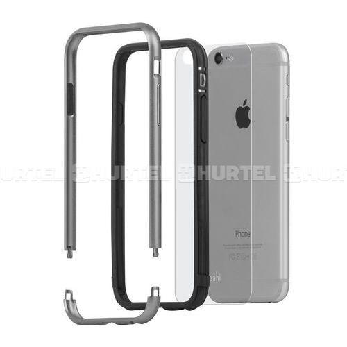 Moshi iGlaze Luxe - Aluminiowy bumper iPhone 6s / iPhone 6 (Titanium Grey), kolor szary