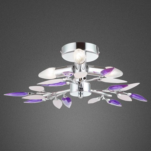 Globo Plafon lampa oprawa sufitowa giulietta 3x40w e14 chrom/fiolet 63167-3 (9007371207046)