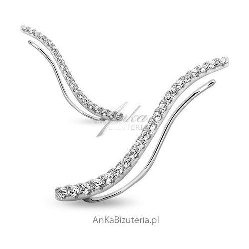Nausznice kolczyki srebrne cyrkonie - cena za parę! marki Anka biżuteria