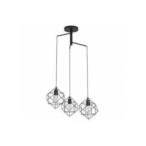 Eglo straiton 43366 lampa wisząca zwis 3x40w e27 czarna (9002759433666)