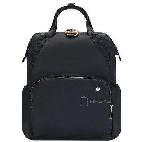 """Pacsafe Citysafe CX plecak damski antykradzieżowy na laptopa 13"""" / Black - Black, kolor czarny"""