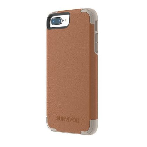GRIFFIN SURVIVOR PRIME LEATHER ETUI PANCERNE IPHONE 8 PLUS / 7 PLUS / 6S PLUS / 6 PLUS (BRĄZOWY)